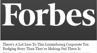 Forbes a lot less to Luxembourg Corporate Tax dodging